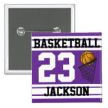 Púrpura y blanco personalizados del baloncesto