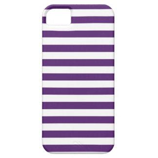 Púrpura y blanco raya la caja del iPhone iPhone 5 Funda