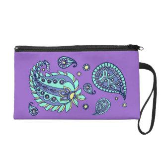 Púrpura y bolso de Paisley Bagettes de los pastele