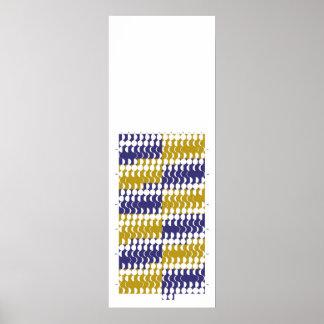 Púrpura y calendario de la fase de la luna del oro póster
