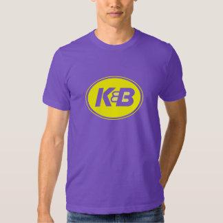 Púrpura y camiseta del oro K&B