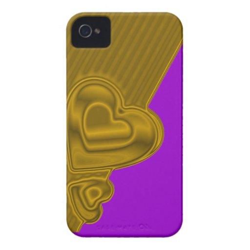 Púrpura y casamata intrépida de Blackberry de los iPhone 4 Coberturas