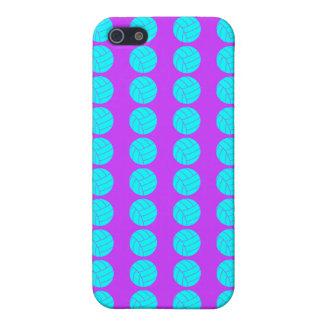 Púrpura y caso del iPhone 5C del voleibol de la iPhone 5 Fundas