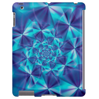Púrpura y caso espiral del iPad del fractal de la