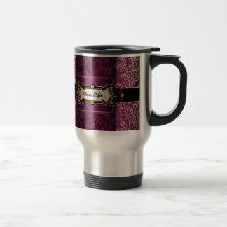 Púrpura y colección de Bunco del oro Taza De Viaje De Acero Inoxidable