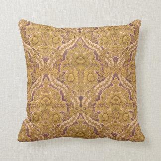 Púrpura y damasco floral del Victorian del oro Cojín Decorativo