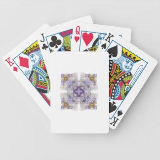Púrpura y diseño del arte del fractal del cuadrado baraja