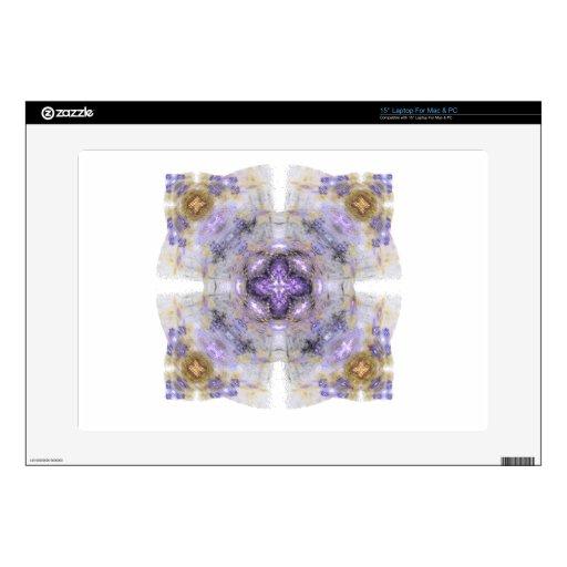 Púrpura y diseño del arte del fractal del cuadrado skins para 38,1cm portátil