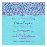 Púrpura y ducha nupcial BR011 del cordón del damas Invitaciones Personales