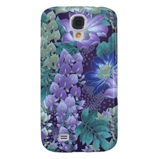 Púrpura y flores de la selva del trullo