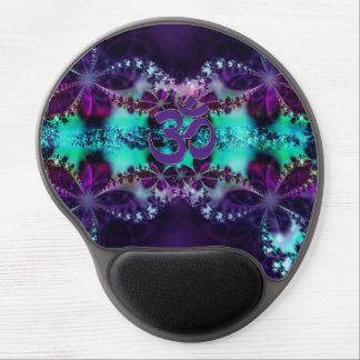 Púrpura y gel Mousepad de OM del fractal de la agu Alfombrilla Con Gel