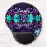 Púrpura y gel Mousepad de OM del fractal de la Alfombrilla De Raton Con Gel
