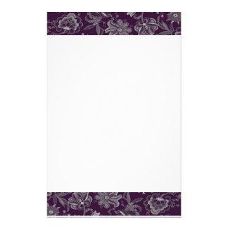 Púrpura y gris elegantes papeleria personalizada