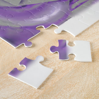 Púrpura y gris puzzles con fotos