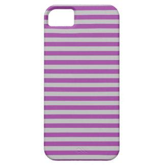 Púrpura y gris raya la caja del iPhone iPhone 5 Fundas