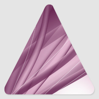 Púrpura y hermoso pegatina triangular