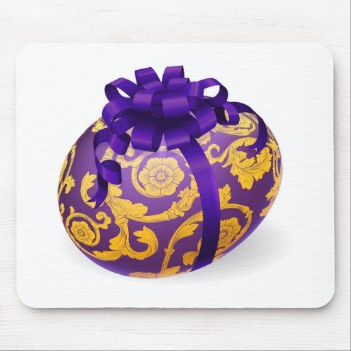 Púrpura y huevo de Pascua del oro con el arco Alfombrilla De Ratón