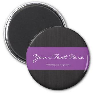Púrpura y imán del personalizable de la viruta