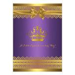 Púrpura y invitación de la fiesta de bienvenida al