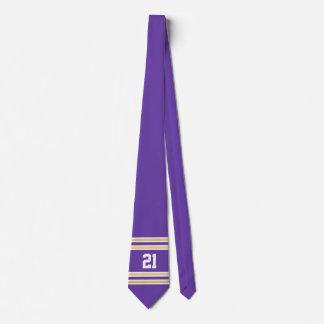 Púrpura y jersey del oro corbatas personalizadas