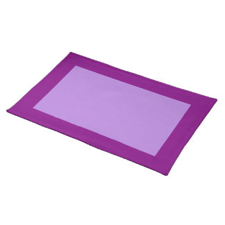 Púrpura y lavanda Placemat Manteles Individuales