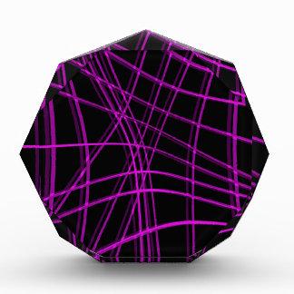 Púrpura y líneas deformadas negro