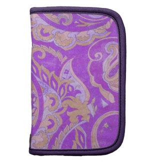 Púrpura y materia textil de Paisley del vintage de Organizador