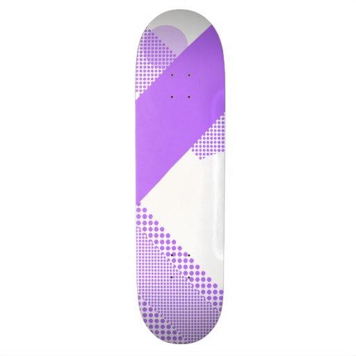 Púrpura y mezcla y partido del blanco patinetas personalizadas