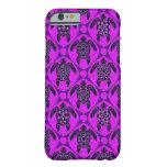 Púrpura y modelo de la tortuga del Mar Negro Funda De iPhone 6 Slim