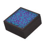 Púrpura y modelo del damasco del trullo caja de recuerdo de calidad