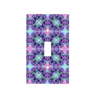 Púrpura y modelo del fractal del hippy de la turqu cubiertas para interruptor
