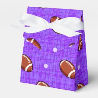 Púrpura y modelo del fútbol de Brown Caja Para Regalo De Boda