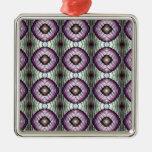 Púrpura y modelo geométrico del círculo del trullo ornamente de reyes