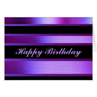 Púrpura y negro tarjeta de felicitación