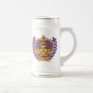 Púrpura y oro de Stein Jarra De Cerveza