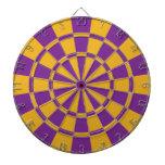 Púrpura y oro tabla dardos