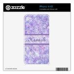 Púrpura y piel helada rosa del iPhone 4/4S iPhone 4 Calcomanía