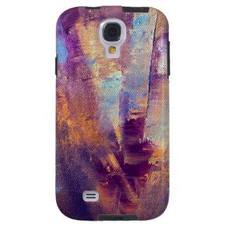 Púrpura y pintura al óleo abstracta del oro