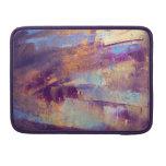 Púrpura y pintura al óleo abstracta del oro fundas para macbook pro