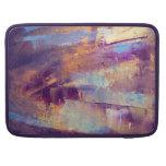 Púrpura y pintura al óleo abstracta del oro funda macbook pro