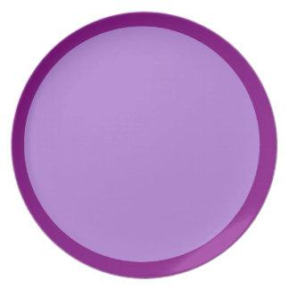 Púrpura y placa de la lavanda plato de cena