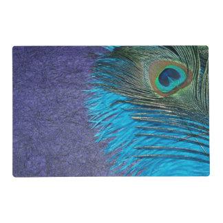 Púrpura y pluma del pavo real del trullo tapete individual