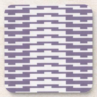 Púrpura y prácticos de costa modelados blanco posavasos de bebidas