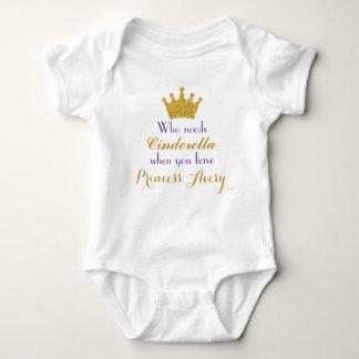 Púrpura y princesa Bodysuit del oro para los Polera