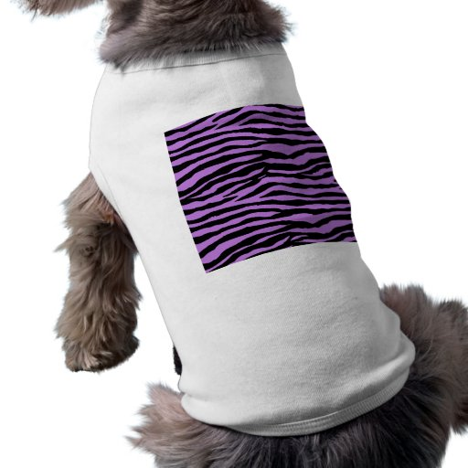 Púrpura y rayas de la cebra camisas de mascota