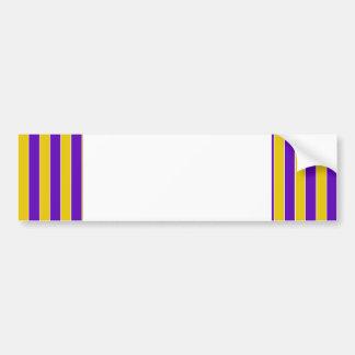 Púrpura y rayas del oro - colores del equipo o de pegatina para auto
