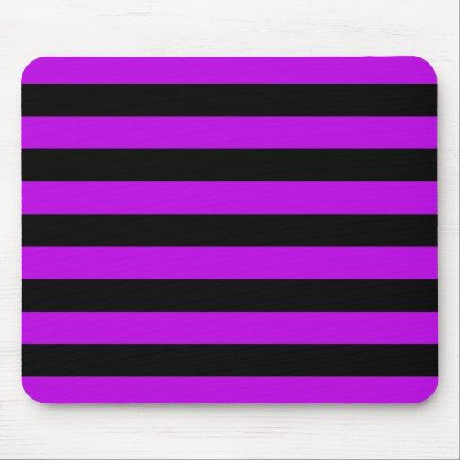 Púrpura y rayas negras alfombrilla de ratones