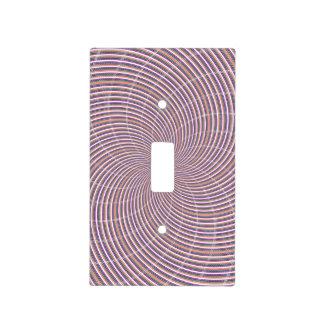 Púrpura y remolino anaranjado placas para interruptor