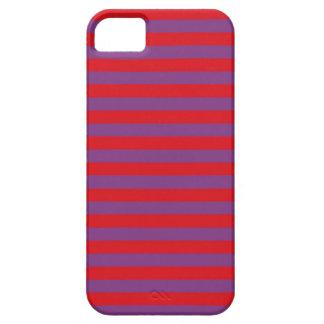 Púrpura y rojo raya la caja del iPhone iPhone 5 Carcasa