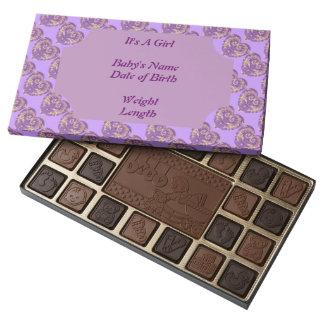 Púrpura y surtido del chocolate del corazón del caja de bombones variados con 45 piezas